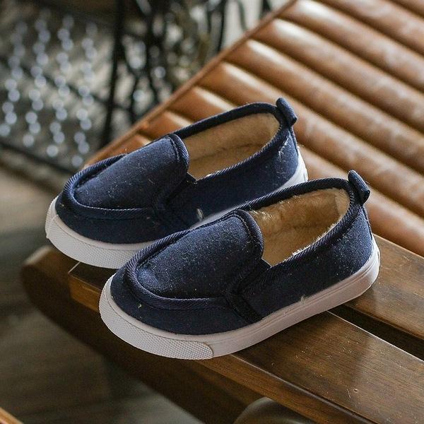 寶寶鞋 絨內裡學步鞋 嬰幼兒板鞋 童鞋(13-15.5cm) KL22544 好娃娃
