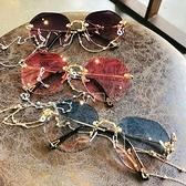 網紅ins墨鏡女潮大臉顯瘦錬條眼鏡圓臉太陽鏡防紫外線年新款 夏季新品