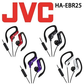 【JVC】運動型耳掛式耳機附通話麥克風 HA-EBR25 紅/紫/黑/白