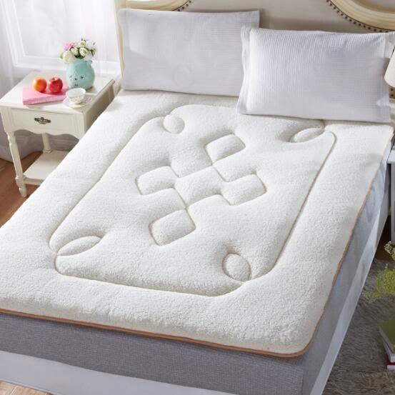 (全館88折)睡墊墊被寢室單件兩用榻米羊羔絨床墊tw