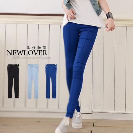 顯瘦窄管長褲NEWLOVER牛仔時尚【268-9575】韓版激瘦超彈性窄管長褲S-XL