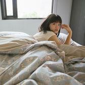 鹿先生的奇幻小屋 S4單人床包雙人兩用被3件組 四季磨毛布 北歐風 台灣製造 棉床本舖