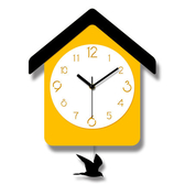 掛鐘 布穀鳥簡約現代掛鐘創意家用時尚鐘錶客廳兒童房卡通可愛教室北歐 1色 T