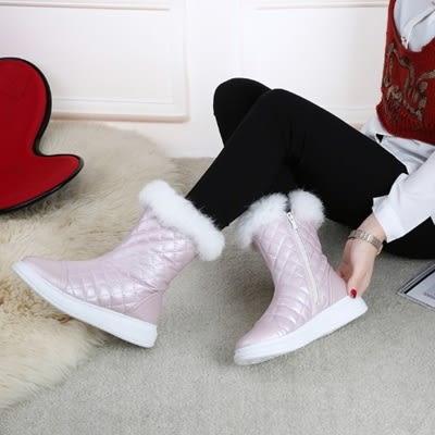 中筒雪靴-時尚氣質保暖百搭女厚底靴子3色73kg86[巴黎精品]
