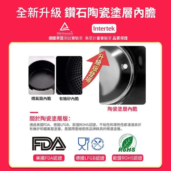 【H0134】《台灣發貨+超值12件組》比依液晶觸控氣炸鍋 6.4L 大容量氣炸鍋 電炸鍋 電烤爐 空炸鍋