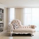 歐式全實木貴妃椅轉角沙發躺椅休閒美人榻小戶型沙發太妃椅jy