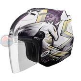 [中壢安信]SOL SL-27S SL 27S 彩繪 獨角獸三代 白紫 安全帽 半罩式安全帽 再送好禮2選1