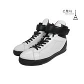 【巴黎站二手名牌專賣店】*PRADA 真品* 黑白拼色高筒休閒鞋(38號)