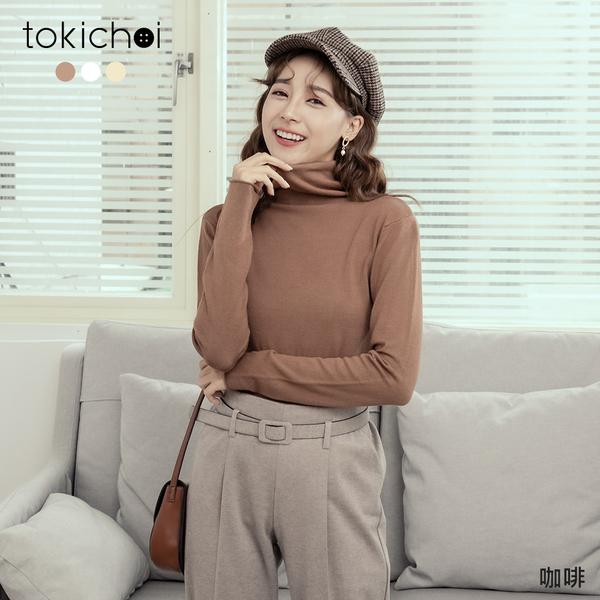 東京著衣-tokichoi-百搭實穿舒適親膚高領針織上衣(191476)【現+預】