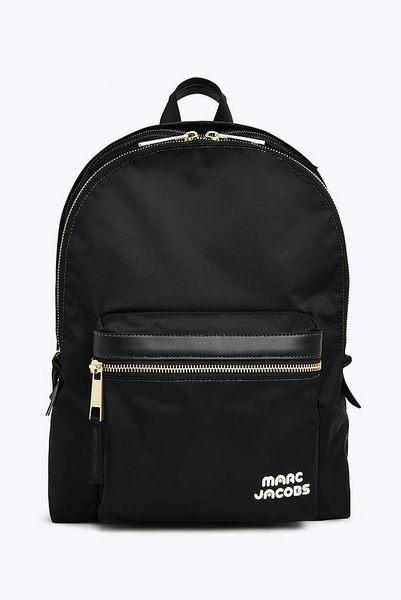 美國名牌 Marc Jacob 帆布 後背包 黑色 燙金LOGO 限量款  保證正品