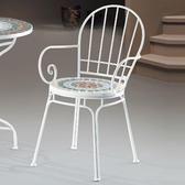 【YFS】艾麗斯休閒椅-50x52x84.5cm(兩色可選)白