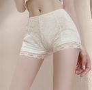 現貨 蕾絲防走光薄款安全褲黑白短褲三分可外穿大碼保險褲打底褲女【快速出貨】