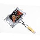 戶外不銹鋼燒烤網夾工具用品配件烤夾燒烤夾烤魚烤肉烤網夾子漢堡  ATF  極有家