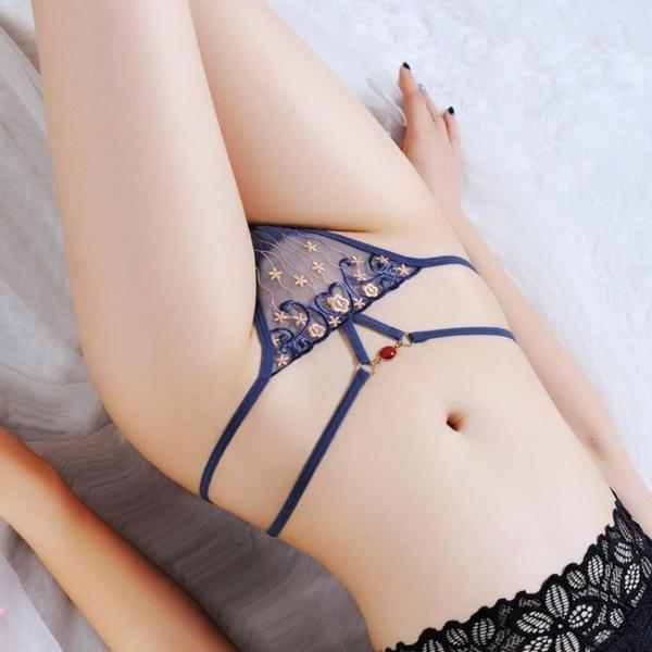 L'amour奢華-Women's Transparent G-String Sexy Pants法式透明繡花丁字褲女內褲LET_2234