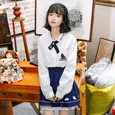 襯衫  布衣醬原創設計秋裝新款丑小鴨蝴蝶結繫帶長袖襯衫女白色上衣 巴黎衣櫃