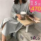 (少量現貨+追加)春 BF感慵懶寬鬆襯衫 兩色-Tirlo