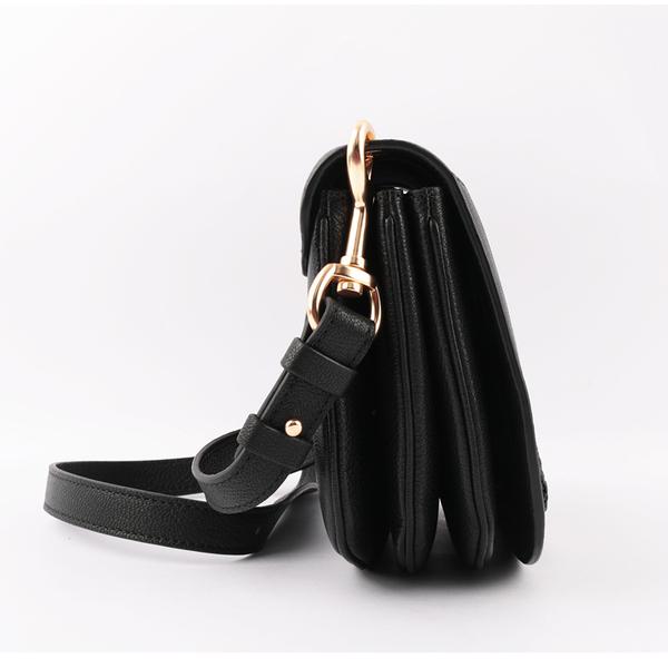 【SEE BY CHLOE】HANA bag 小型皮革斜背包(黑色) CHS17SS896305 001