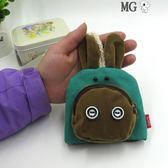 MG 鑰匙包-可愛卡通抽繩鑰匙包帆布女零錢包布藝抽拉式多功能手工收納包