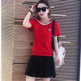 店長推薦新款羽毛球服套裝女夏季網球服裙運動裝時尚球服套裝女休閒運動裙