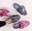 ■現貨在台■ 專櫃價44折 ■Chiara Ferragni CF1557 灰色帆布珍珠裝飾蝴蝶結球鞋 EU37/38/41
