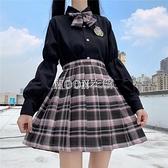 jk制服裙正版2021新款學院風襯衫百褶裙校服套裝全套暗黑系裝潮 SUPER SALE 快速出貨