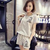 夏季韓版新款短褲運動服套裝女短袖寬鬆休閒套裝潮大碼  凯斯盾数位3C