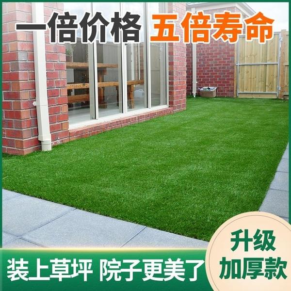 仿真草坪墊子假草墻面綠色人造草皮地毯戶外裝飾綠植塑料人工草坪 NMS生活樂事館