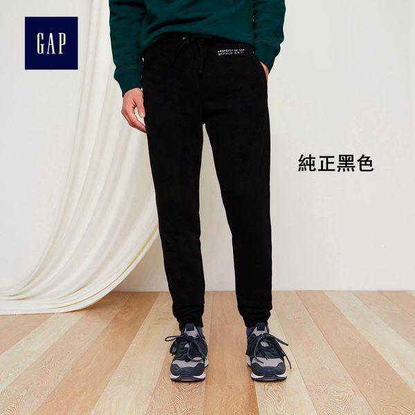 Gap男裝 舒適簡約系帶束腳休閒長褲 365957-純正黑色