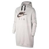 Nike 帽T Nsw Air Hoodie 女款 連帽T恤 長版 經典 基本款 長袖 上衣 灰白 玫瑰金 【PUMP306】 AO2290-030