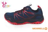 MERRELL Capra Rise男款 戶外多功能鞋 避震氣墊 網布透氣 防臭 登山 休閒鞋G8327#藍色◆OSOME奧森童鞋