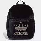 adidas 後背包 Mini Classic Backpack 三葉草 小包 包包 女款 天鵝絨材質 【ACS】 DH2959