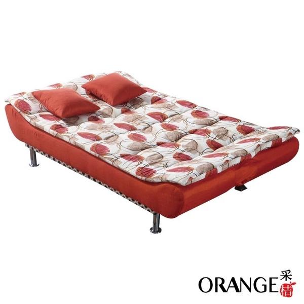【采桔家居】蘇菲瑪  可拆洗亞麻布&絨布獨立筒沙發/沙發床(三色可選+展開式機能設計)