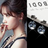 耳環 蝴蝶結耳釘女一款兩戴耳環氣質韓國銀質個性簡約百搭網紅超仙耳墜 年尾牙提前購
