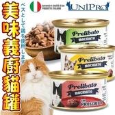 【培菓寵物48H出貨】義大利prelibato》美味義廚貓罐-85g
