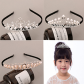兒童發箍布藝皇冠韓國甜美公主水晶防滑發卡學生女孩超萌可愛發飾