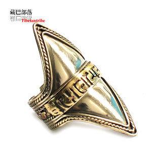 藏文六字真言特寬食戒指