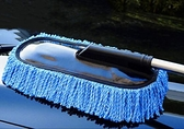汽車專用拖把 除塵刷子打蠟擦車拖把洗車專用軟毛刷車清潔工具大號刷【快速出貨好康8折】