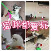貓玩具魚薄荷貓咪用品不倒翁老鼠逗貓棒火雞毛彩色羽毛鈴鐺【中秋節好康搶購】