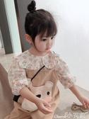 女童襯衫2020春裝女童韓版碎花襯衣寶寶兒童卡通娃娃衫中小童洋氣襯衫上衣 1件免運