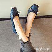休閒大碼平底鞋紅色女單鞋OL通勤工作鞋女鞋 ZB356『美鞋公社』