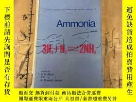 二手書博民逛書店Ammonia,罕見Part II. Fertilizer Sc