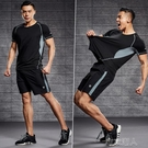 運動套裝男速干t恤夏季短袖上衣籃球背心訓練服健身裝備跑步衣服 布衣潮人
