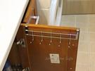 約翰家庭百貨》【SA490】不鏽鋼櫥櫃門背五連掛勾架 門後掛勾 衣櫃掛鉤