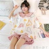 睡衣女夏季純棉短袖薄款兩件套裝2021年新款網紅爆款春秋天家居服 蘿莉新品