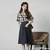 短袖裙裝 2021年法式新款長裙早春設計感小眾超仙女森系洋裝子兩件套裝夏 開春特惠