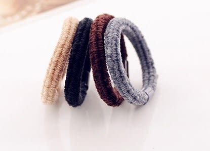 [協貿國際] 韓版高彈力絨絨圓頭粗髮圈 (20個價)