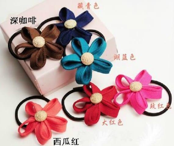 [協貿國際] 韓版拉鍊齒邊花朵髮圈頭飾 (10個價)