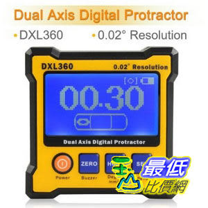 [美國直購] Floureon Digital LCD Protractor Dual Axis Level Box Inclinometer High Accuracy and Resolution (DXL360) 量角器