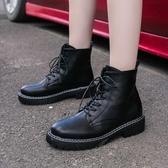 馬丁靴 女新款百搭春秋單靴楊冪同款帥氣工裝鞋英倫風短靴子女 - 古梵希