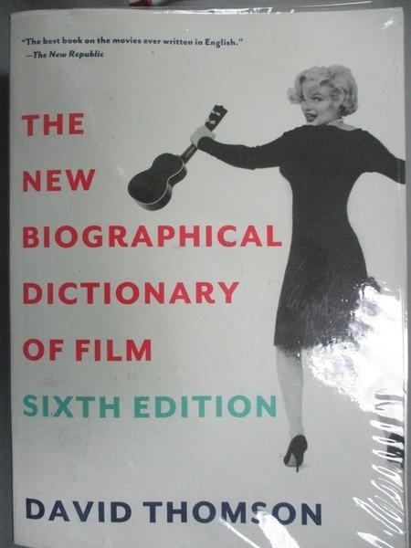 【書寶二手書T3/影視_JGI】The New Biographical Dictionary of Film_Thom